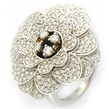 Кольцо из белого золота с 184 бриллиантами весом 1.12 карат