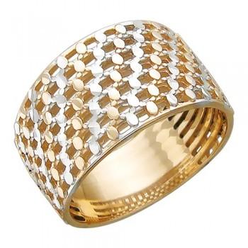 Кольцо Плетенка из красного золота 585 пробы