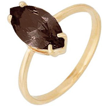 Кольцо из красного золота с 1 раух-топазом весом 1,79 карат