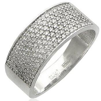 Обручальное кольцо из белого золота с 130 бриллиантами весом 0.81 карат