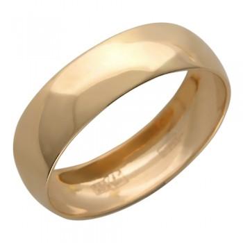 Обручальное кольцо из красного золота 585 пробы, артикул 01О010140-КО