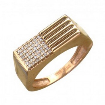 Кольцо из красного золота с 36 бриллиантами весом 0.25 карат