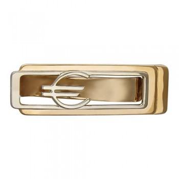 Зажим для денег Евро из комбинированного золота 585 пробы