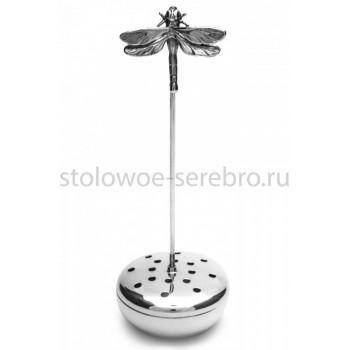 Серебряное ситечко для чая Raddi  Стрекоза, артикул 13045/A