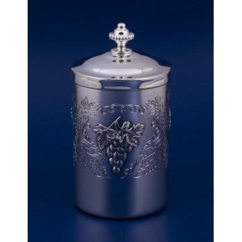 Серебряная коробка для чая  Виноградная лоза