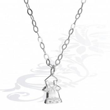 Детская цепочка  Платье  из серебра