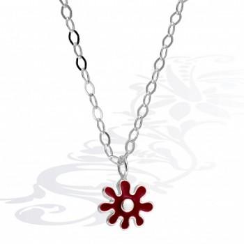 Детская цепочка  Цветы  из серебра с эмалью
