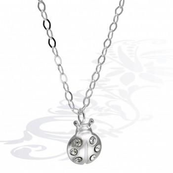 Детская цепочка  Божья коровка  из серебра с фианитами