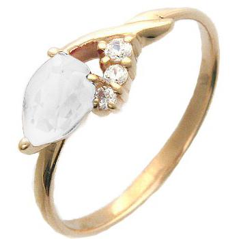 Кольцо из красного золота с 4 фианитами весом 1.38 карат