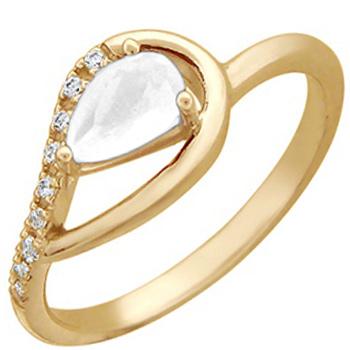 Кольцо из красного золота с 10 фианитами весом 0.53 карат