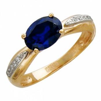 Кольцо из комбинированного золота с 11 фианитами весом 2.42 карат