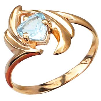 Кольцо из красного золота с 1 топазом весом 1.11 карат