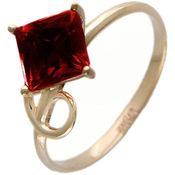 Кольцо из красного золота с 1 гранатом весом 2.03 карат