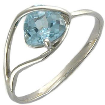 Кольцо из белого золота с 1 топазом весом 2,17 карат