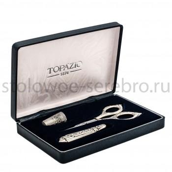 Набор для шитья (ножницы, игольница, наперсток)