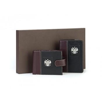 Набор из обложки на паспорт и кошелька  - Федерация