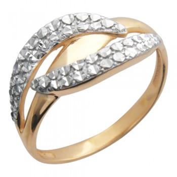 Кольцо из красного золота 585 пробы, артикул 01К715033-КО