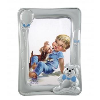 Рамка для фото  Медведь и воздушный шар  (голубая)
