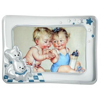 Рамка для фото детская  Котята  (голубая)