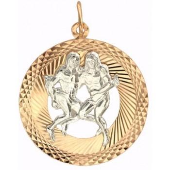 Подвеска Близнецы из комбинированного золота 585 пробы, артикул Р3Д761201-ПО