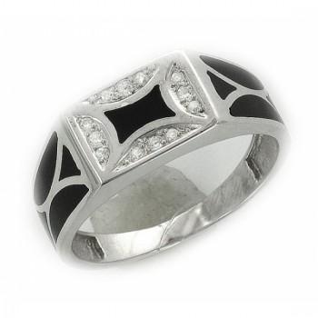 Кольцо из серебра с 12 фианитами весом 0,2 карат