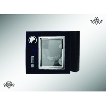 Серебряный набор Рамка для фото  Рим  с закладкой и флешкой