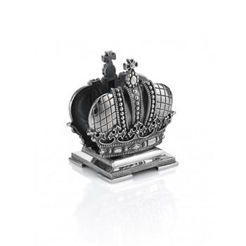 Серебряная подставка для визиток  Корона