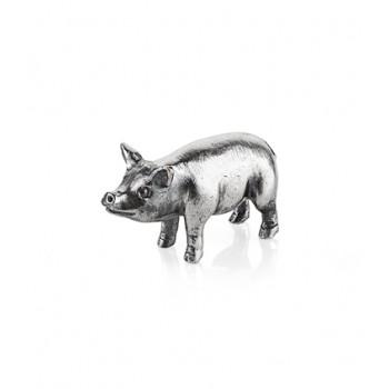 Серебряная микро свинья-копилка