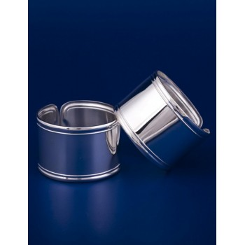 Серебряное кольцо для салфеток №3