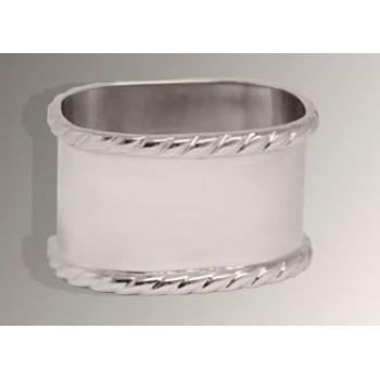 Серебряное кольцо для салфеток № 9