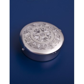 Серебряная туалетная коробочка №5