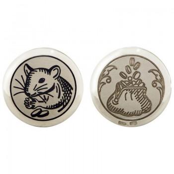 Серебряная монета сувенирная  Кошельковая мышь