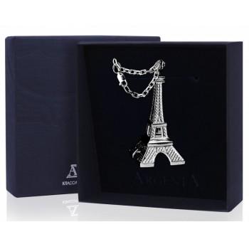 Серебряный брелок для ключей  - Эйфелева Башня
