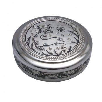 Серебряная туалетная коробочка, артикул 50040033А05