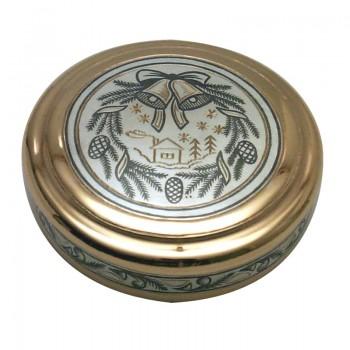 Серебряная туалетная коробочка, артикул 50040033А06