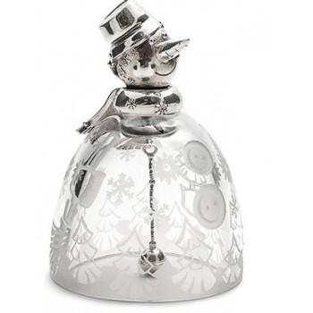 Колокольчик  - Хрустальный снеговик
